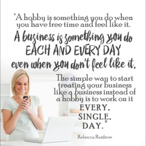 decorative image explaining difference between hobby and business