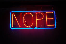 neon nope sign image