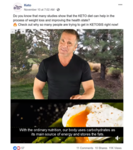 keto food prep for facebook post examples
